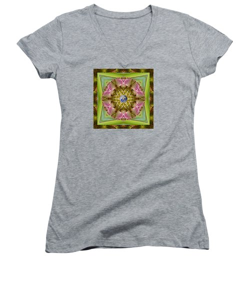 Women's V-Neck T-Shirt (Junior Cut) featuring the photograph Epicenter by Bell And Todd