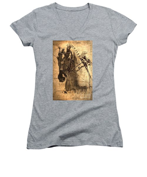 Equestrian Women's V-Neck (Athletic Fit)