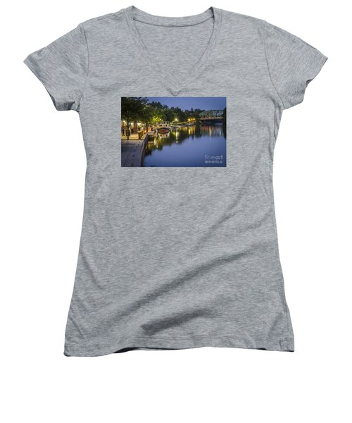 Erie Canal Stroll Women's V-Neck T-Shirt