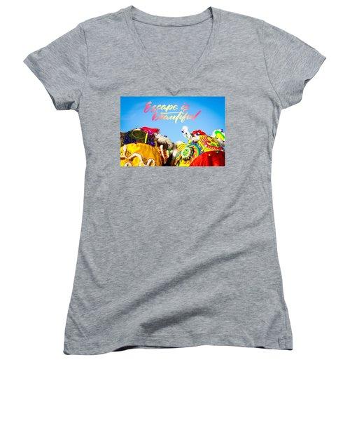 Escape Women's V-Neck T-Shirt