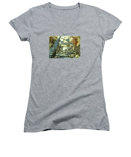 Escaping The Whirlwind Women's V-Neck T-Shirt