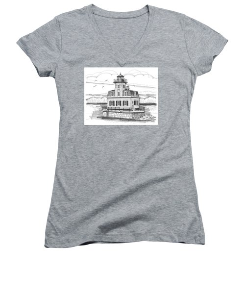 Esopus Meadows Lighthouse Women's V-Neck