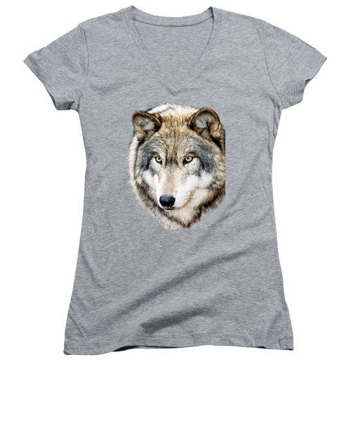 Essence Of Wolf Women's V-Neck T-Shirt