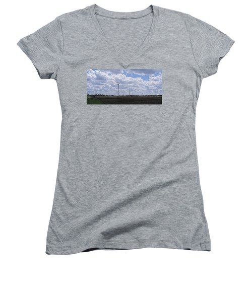 Etched In Stone Women's V-Neck