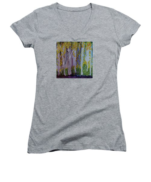 Ethereal Forest Women's V-Neck (Athletic Fit)