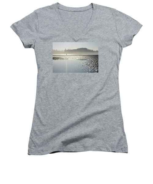 Ethereal Reflection Women's V-Neck T-Shirt