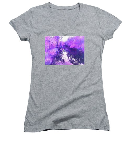 Ethereal Water Color Blossom Women's V-Neck