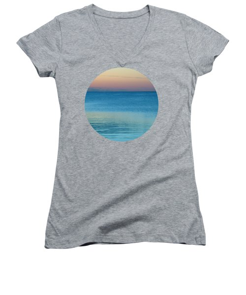 Evening At The Lake Women's V-Neck