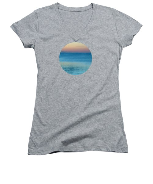 Evening At The Lake Women's V-Neck (Athletic Fit)