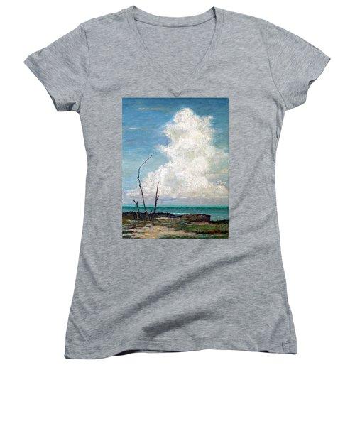 Evening Cloud Women's V-Neck