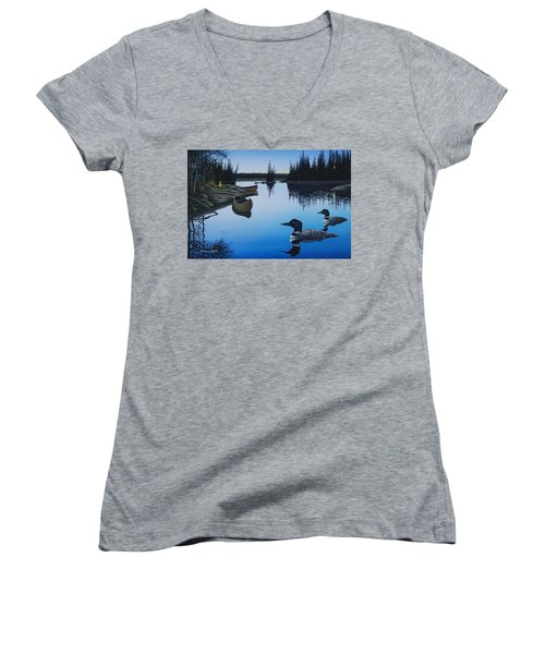 Evening Loons Women's V-Neck