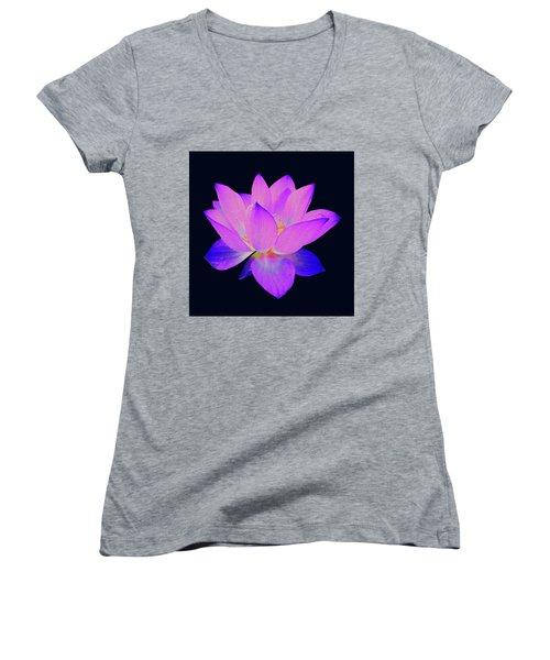 Evening Purple Lotus  Women's V-Neck