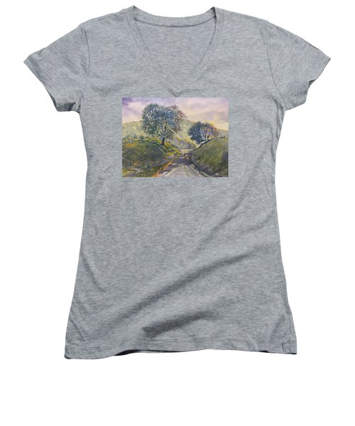 Evening Stroll In Millington Dale Women's V-Neck (Athletic Fit)