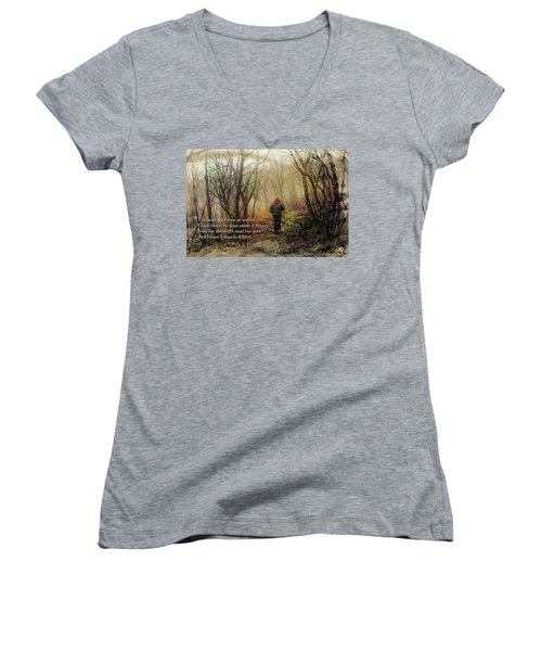 Ever On And On... Women's V-Neck T-Shirt (Junior Cut) by Jessica Brawley