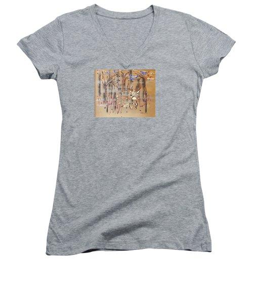Everwatchful Women's V-Neck T-Shirt (Junior Cut) by J R Seymour