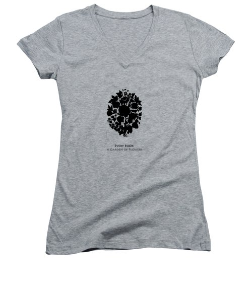 Every Book A Garden Women's V-Neck T-Shirt