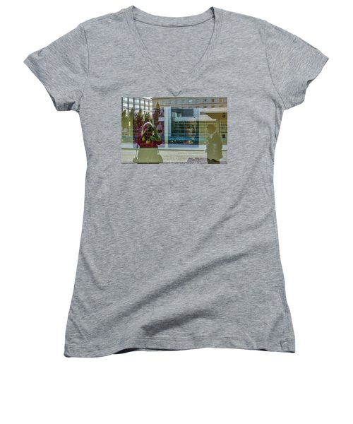 Everything Is Inside Out Women's V-Neck (Athletic Fit)