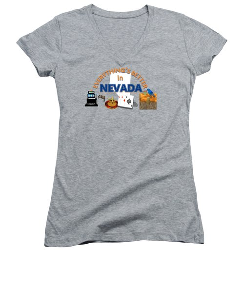 Everything's Better In Nevada Women's V-Neck (Athletic Fit)
