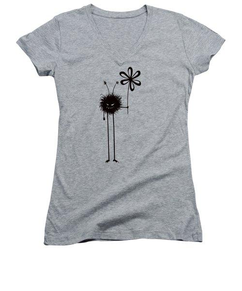 Evil Flower Bug Women's V-Neck T-Shirt