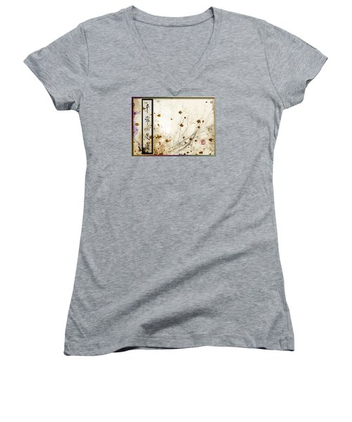 Every-day Mind Is The Path Women's V-Neck T-Shirt (Junior Cut) by Peter v Quenter
