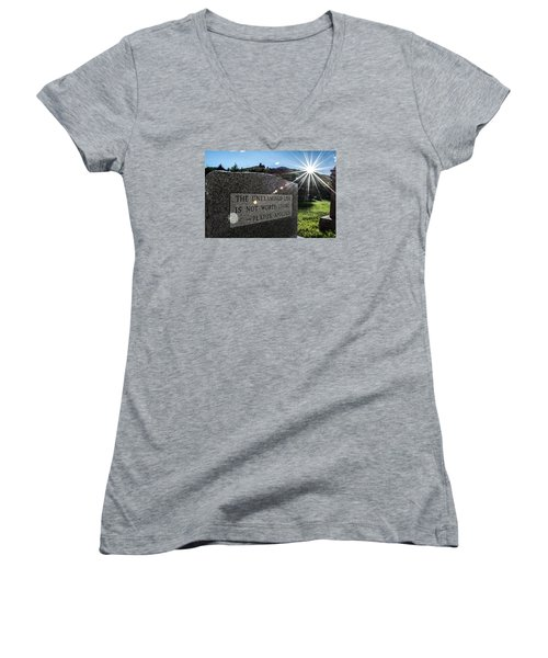 Women's V-Neck T-Shirt (Junior Cut) featuring the photograph Examined Life Color by Rhys Arithson