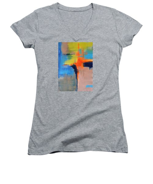 Excitement Women's V-Neck T-Shirt (Junior Cut) by Becky Chappell