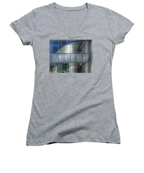 Exeter Hospital Women's V-Neck T-Shirt (Junior Cut) by Rick Mosher