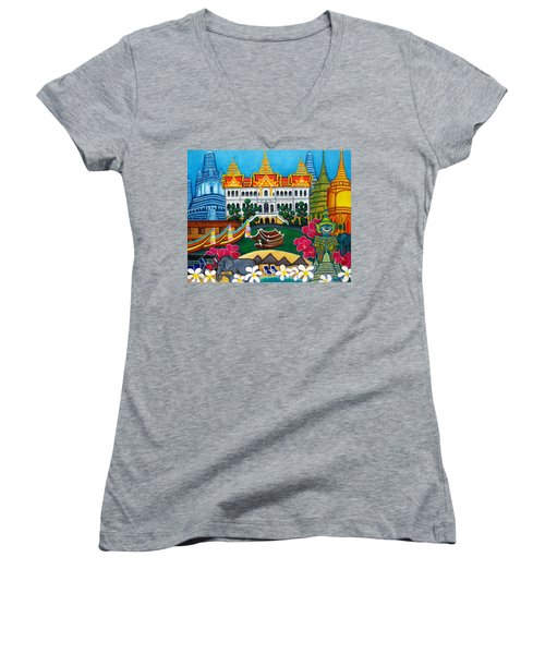 Exotic Bangkok Women's V-Neck (Athletic Fit)