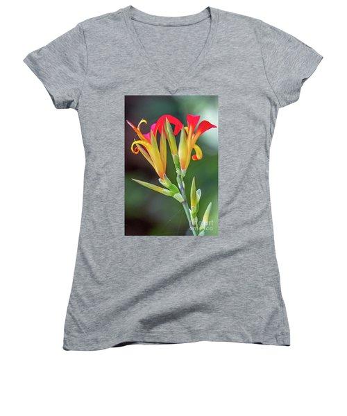 Exotic Flowers Women's V-Neck
