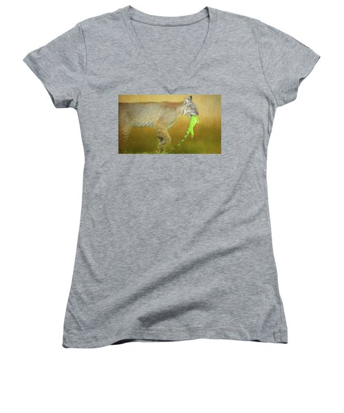 Exotic Lunch. Women's V-Neck (Athletic Fit)