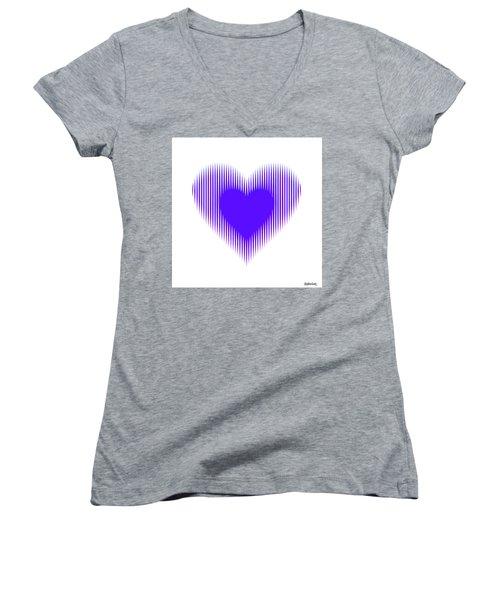 Expanding - Shrinking Heart Women's V-Neck