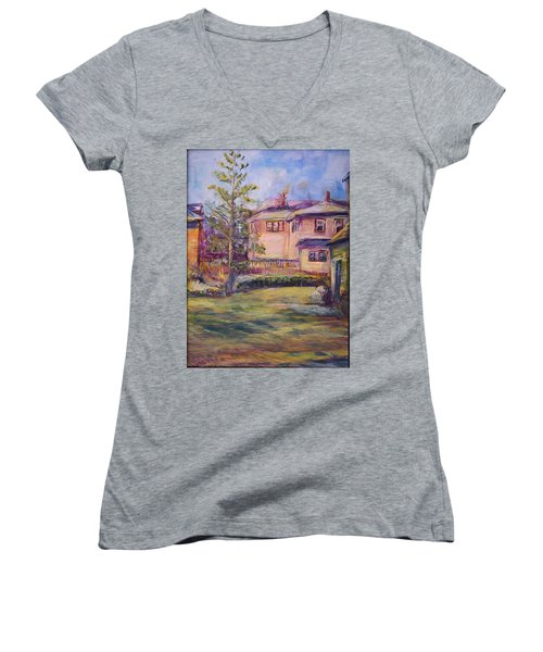 Upstairs Window Women's V-Neck (Athletic Fit)