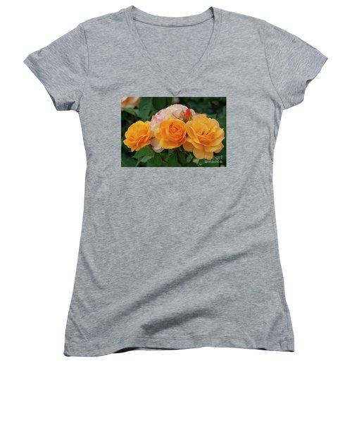 Experimental Roses 1 Women's V-Neck (Athletic Fit)