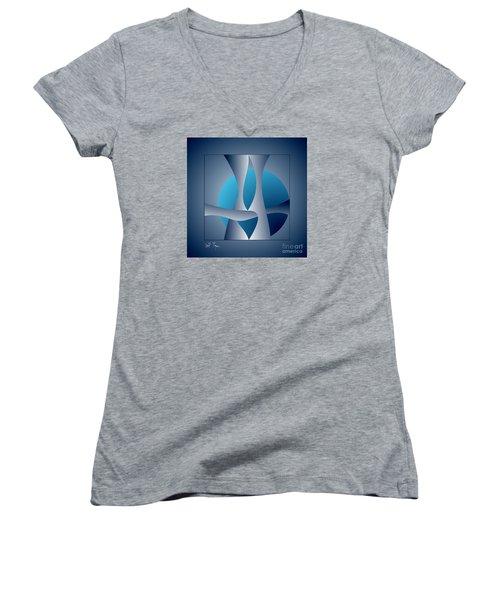 Expert Debate Women's V-Neck T-Shirt (Junior Cut) by Leo Symon