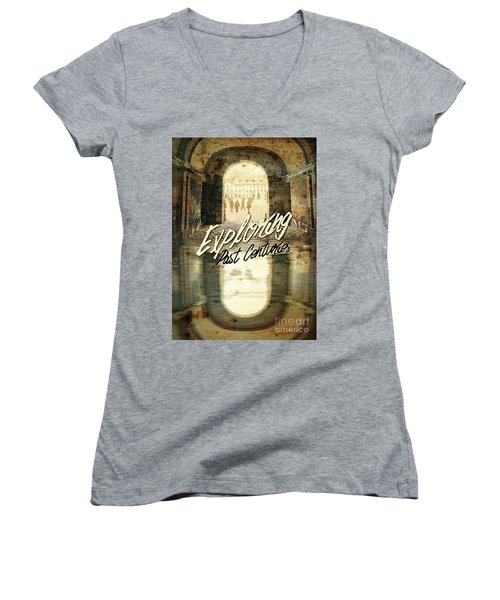 Exploring Past Centuries Fontainebleau Chateau France Architectu Women's V-Neck (Athletic Fit)
