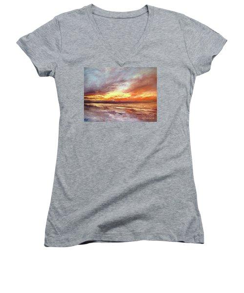 Explosion Of Light Women's V-Neck T-Shirt