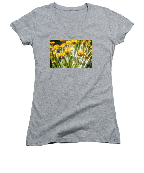 Explosion Of Yellow Women's V-Neck