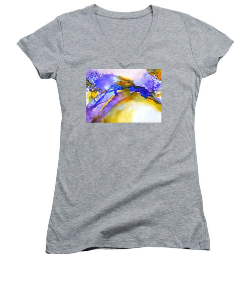 Expressive #3 Women's V-Neck T-Shirt (Junior Cut) by Betty M M Wong