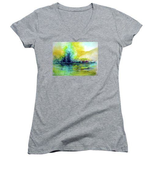 Expressive Women's V-Neck T-Shirt (Junior Cut) by Allison Ashton