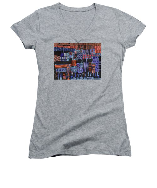 Exterior Facade Women's V-Neck T-Shirt
