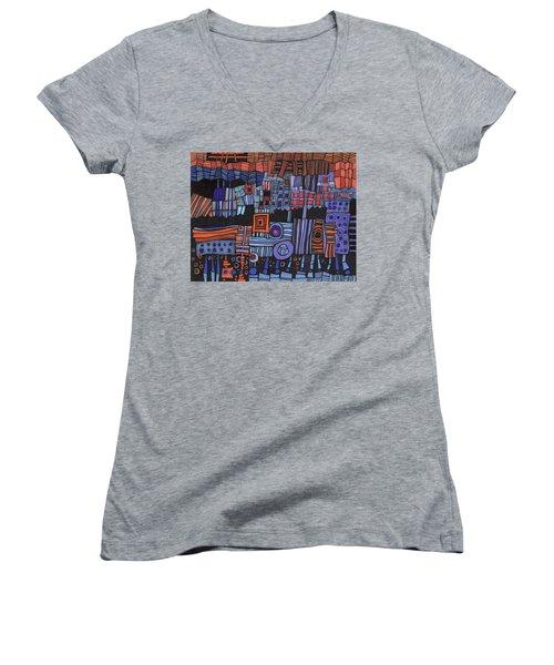 Exterior Facade Women's V-Neck T-Shirt