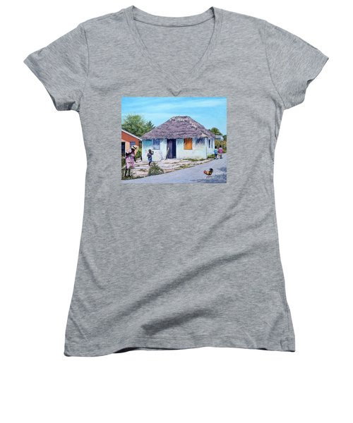 Exuma Thatch Hut Women's V-Neck