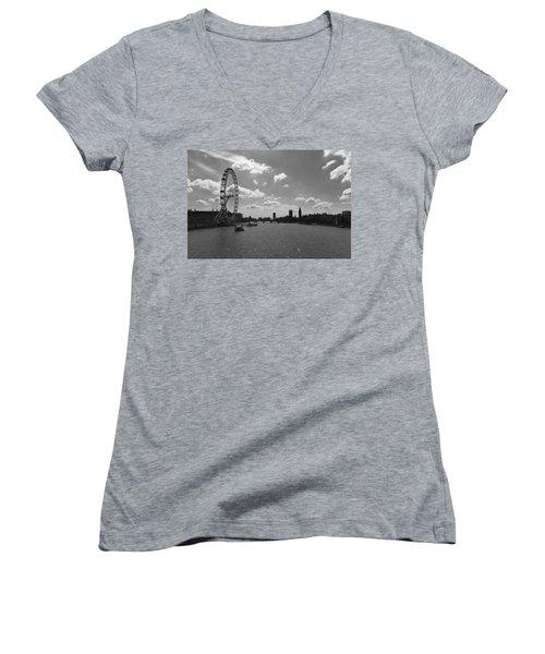 Eye And Parliament Women's V-Neck T-Shirt (Junior Cut) by Maj Seda
