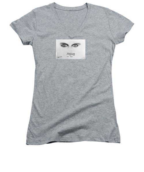 Focus On The Good Women's V-Neck (Athletic Fit)