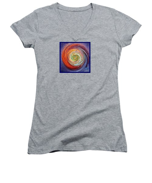 Women's V-Neck T-Shirt (Junior Cut) featuring the photograph Eye Of The Storm by Sue Melvin