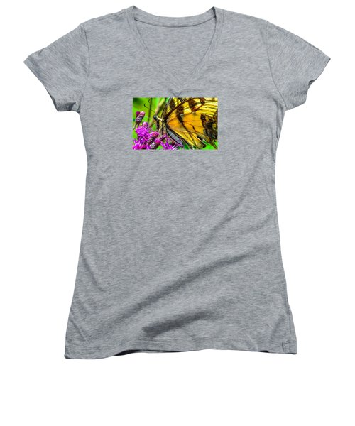 Eye Of The Tiger 3 Women's V-Neck (Athletic Fit)
