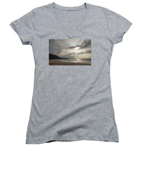Eye To Eye Women's V-Neck T-Shirt (Junior Cut) by Alex Lapidus
