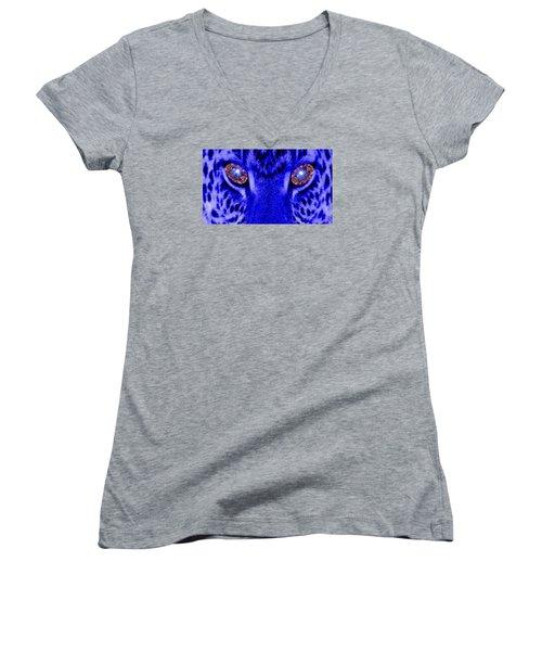 Eyes Of The Leppard Women's V-Neck T-Shirt