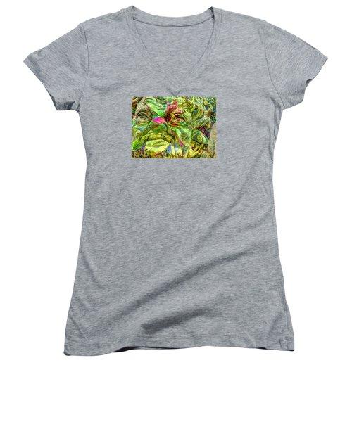 Eyes Women's V-Neck T-Shirt (Junior Cut) by Yury Bashkin