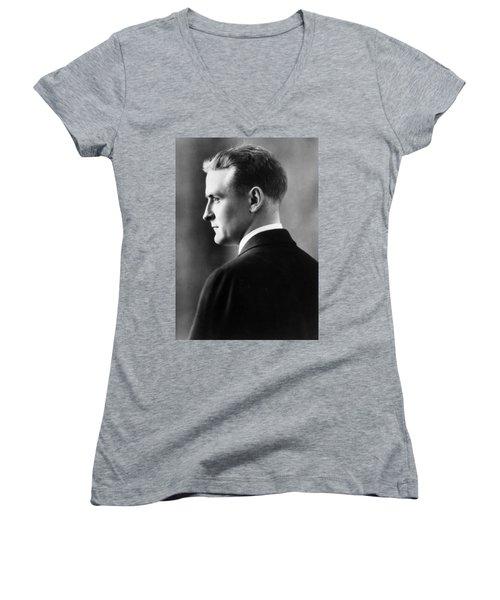 F. Scott Fitzgerald Circa 1925 Women's V-Neck